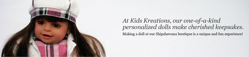 Make a doll at Kids Kreations
